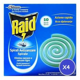 INSETTICIDA RAID SPIRALE 4CONFEZIONI