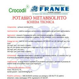E224 POTASSIO METABISOLFITO GR.100