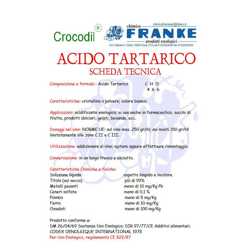 ACIDO TARTARICO 1KG.