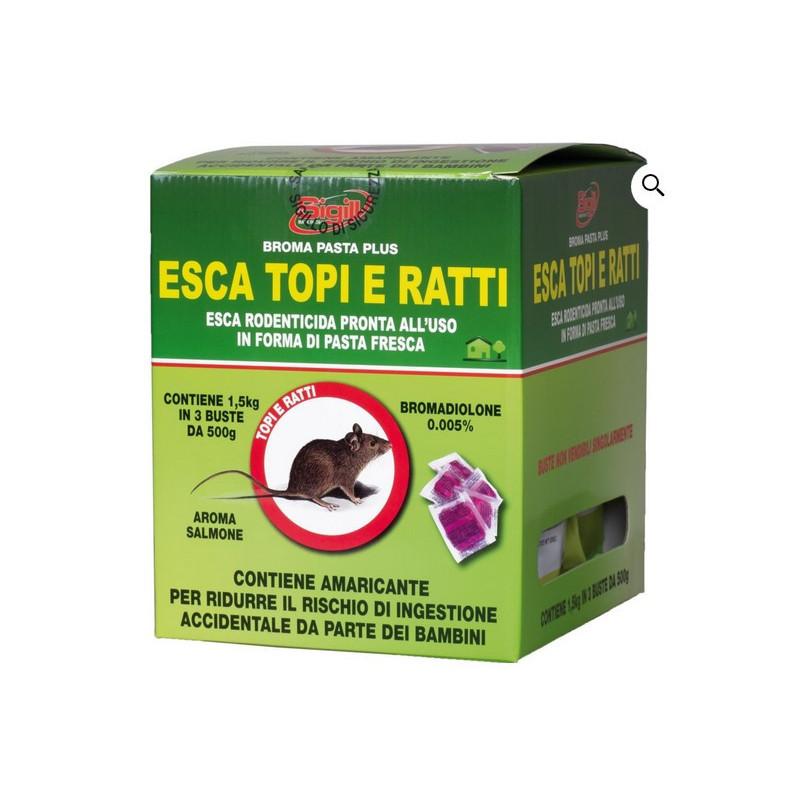 Topicida bocconcino esca rossa scatola da 1.5 Kg.
