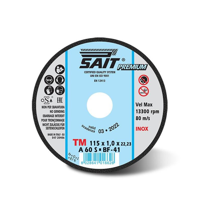 Mole disco da taglio Sait premium TM 115x1x22.23 A60