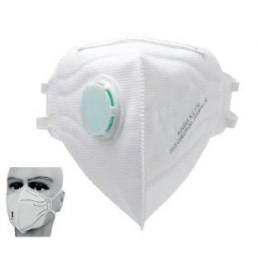 Mascherina filtrante FFP2 KN95 con valvola e elastico nucale