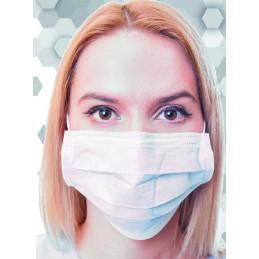 10 Mascherine chirurgiche adulto tipo iir azzurro